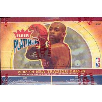 2003/04 Fleer Platinum Basketball Hobby Box
