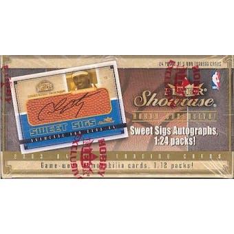 2003/04 Fleer Showcase Basketball Hobby Box