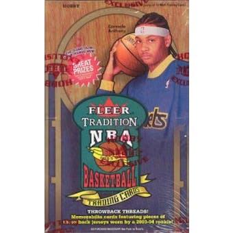 2003/04 Fleer Tradition Basketball Hobby Box