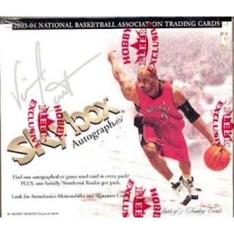 2003/04 Fleer SkyBox Autographics Basketball Hobby Box