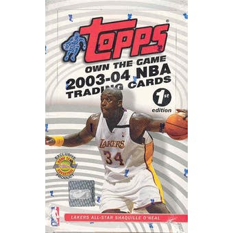 2003/04 Topps First Edition Basketball Box
