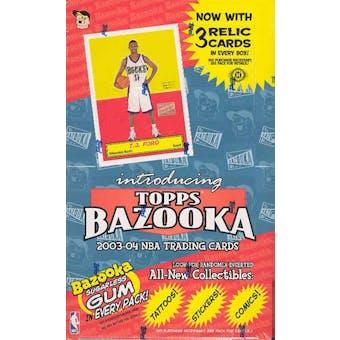 2003/04 Topps Bazooka Basketball Hobby Box