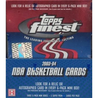 2003/04 Topps Finest Basketball Hobby Box