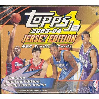 2003/04 Topps Jersey Edition Basketball Hobby Box