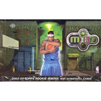 2003/04 Topps Rookie Matrix Basketball Hobby Box