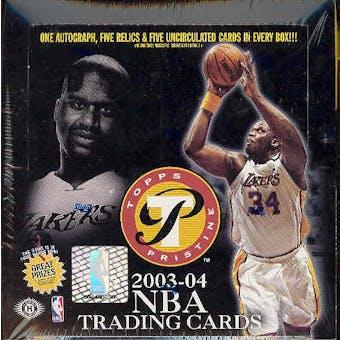 2003/04 Topps Pristine Basketball Hobby Box