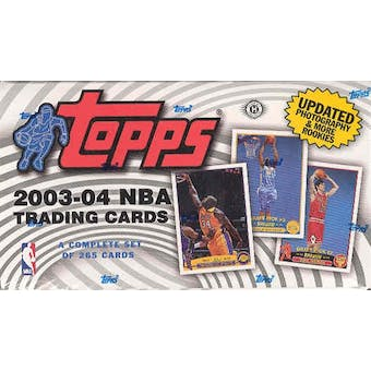 2003/04 Topps Basketball Hobby Factory Set (Box)