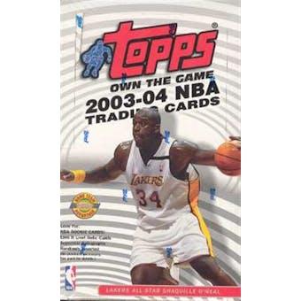 2003/04 Topps Basketball Jumbo Box