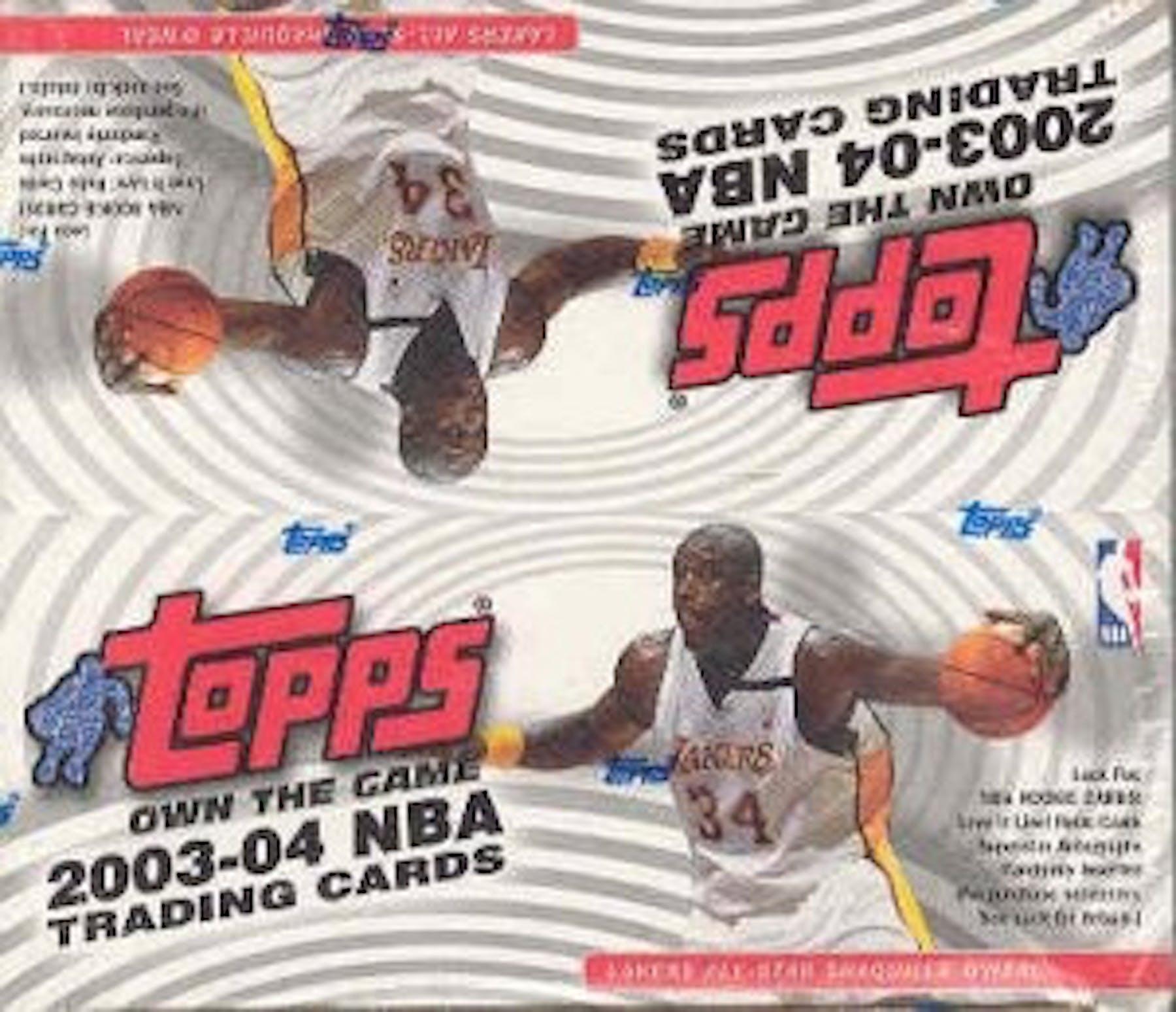info for 3bcbb 65dc0 2003/04 Topps Basketball 24 Pack Box | DA Card World