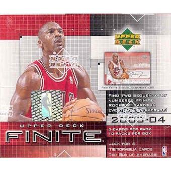 2003/04 Upper Deck Finite Basketball Hobby Box
