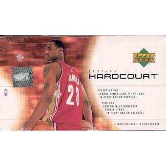 2003/04 Upper Deck Hardcourt Basketball Hobby Box