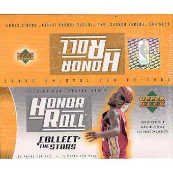 2003/04 Upper Deck Honor Roll Basketball 24 Pack Box