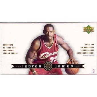 2003/04 Upper Deck LeBron James Basketball Set (box)