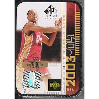 2003/04 Upper Deck SP Signature Basketball Hobby Box (Tin)