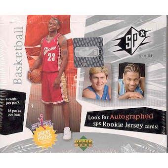 2003/04 Upper Deck SPx Basketball Hobby Box