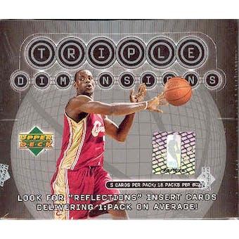2003/04 Upper Deck Triple Dimension Basketball Hobby Box