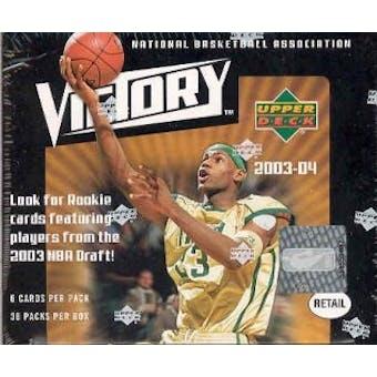 2003/04 Upper Deck Victory Basketball Box