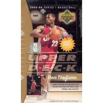 2003/04 Upper Deck Basketball Hobby Box