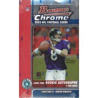 2003 Bowman Chrome Football Hobby Box