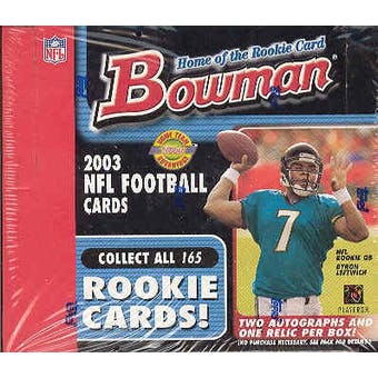 2003 Bowman Football Jumbo Box