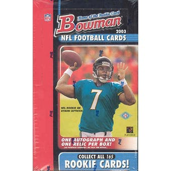 2003 Bowman Football Hobby Box