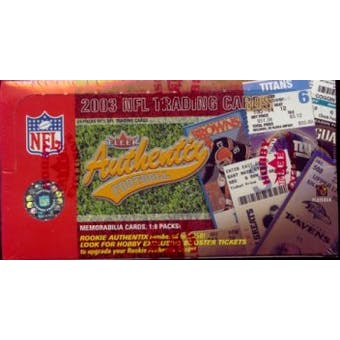 2003 Fleer Authentix Football Hobby Box