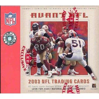 2003 Fleer Avant Football Hobby Box