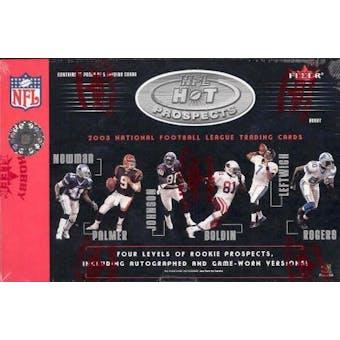 2003 Fleer Hot Prospects Football Hobby Box