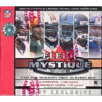 2003 Fleer Mystique Football Hobby Box