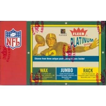 2003 Fleer Platinum Football Hobby Box