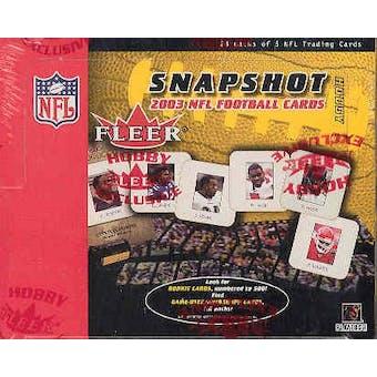 2003 Fleer Snapshot Football Hobby Box