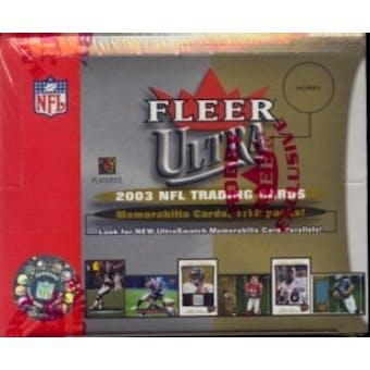 2003 Fleer Ultra Football Hobby Box