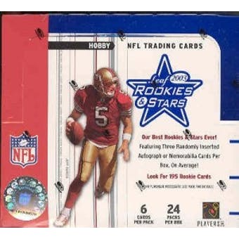 2003 Leaf Rookies & Stars Football Hobby Box