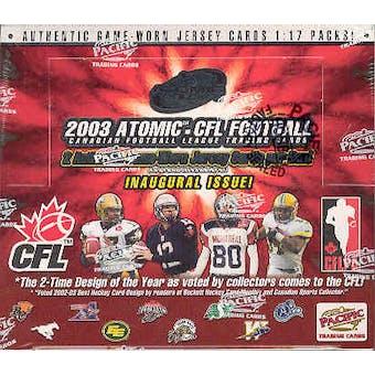 2003 Pacific Atomic CFL Football Hobby Box