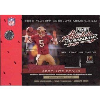 2003 Playoff Absolute Memorabilia Football Hobby Box
