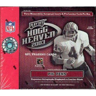 2003 Playoff Hogg Heaven Football Hobby Box