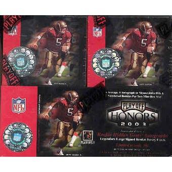 2003 Playoff Honors Football Hobby Box