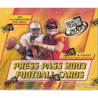 2003 Press Pass Football Hobby Box