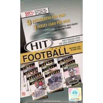 2003 Sage Hit Football Hobby Box