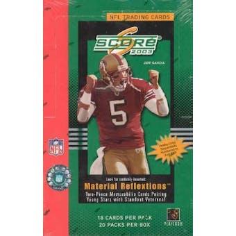 2003 Score Football Hobby Box