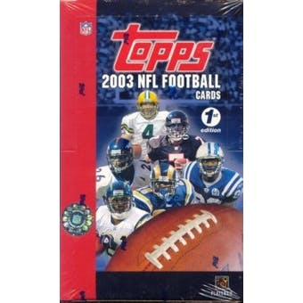 2003 Topps First Edition Football Box