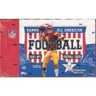 2003 Topps All American Football Hobby Box