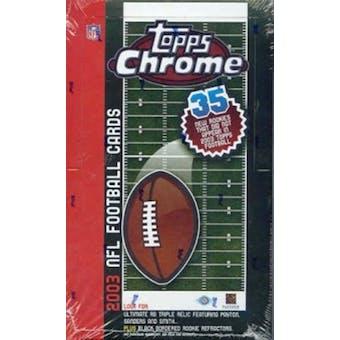 2003 Topps Chrome Football Hobby Box