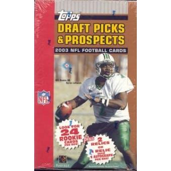 2003 Topps Draft Picks And Prospects Football Hobby Box