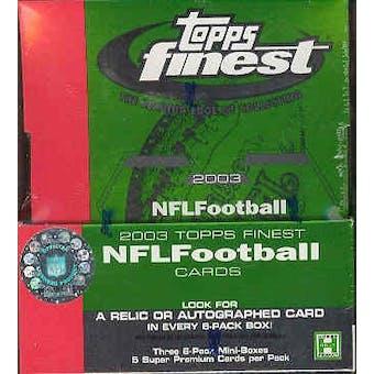 2003 Topps Finest Football Hobby Box
