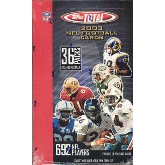 2003 Topps Total Football Hobby Box