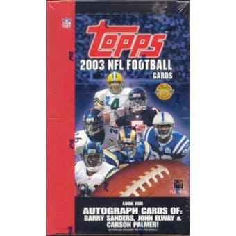 2003 Topps Football Jumbo Box