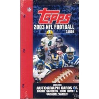 2003 Topps Football Hobby Box