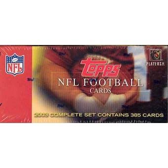2003 Topps Football Factory Set (Box)