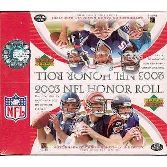 2003 Upper Deck Honor Roll Football 24 Pack Box